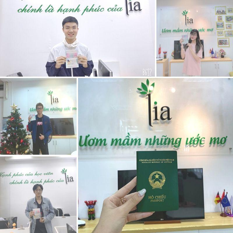 Học viên LIA ngày nhận visa đi Đức