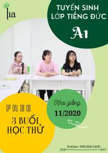 LIA tuyển sinh các khóa học tiếng Đức các trình độ A1, A2,, B1 tháng 11