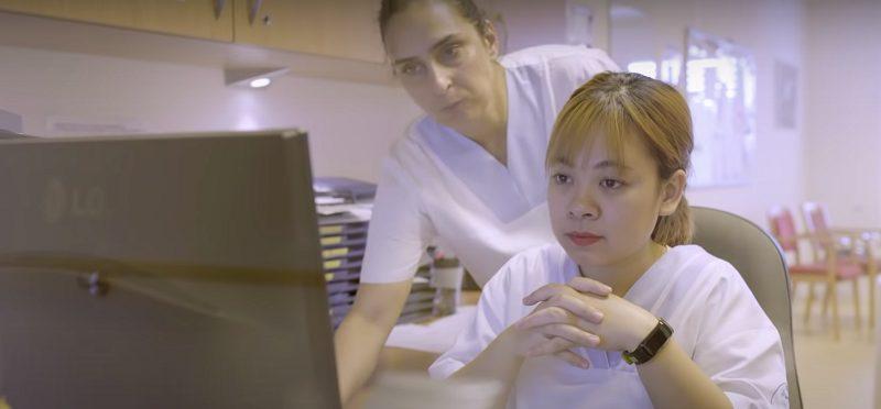 Thu Thảo tham gia học nghề điều dưỡng tại Đức theo chương trình của LIA