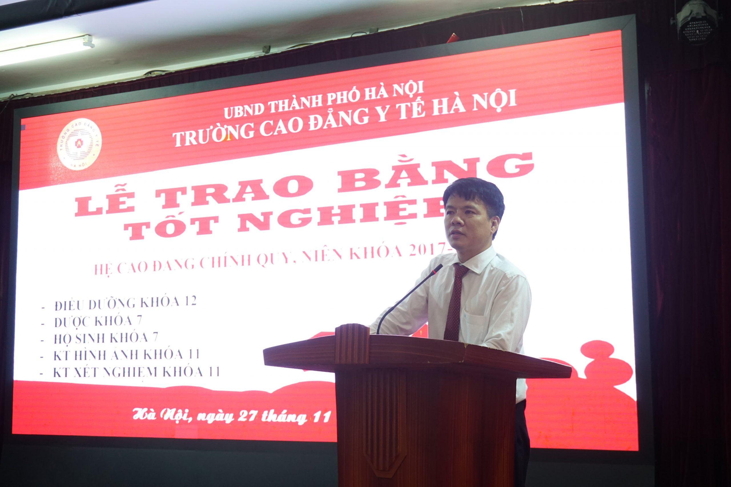 """TS Phạm Văn Tân - Hiệu trưởng trường Cao đẳng Y tế Hà Nội gửi gắm tình cảm và nhắn gửi """"Mong các em luôn là người thầy thuốc tốt, thầy thuốc giỏi"""""""