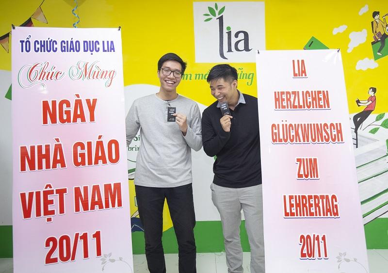 Hai thầy giáo điển trai của LIA: Thầy Thanh Tịnh và thầy Andre