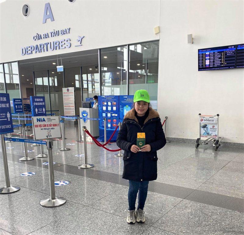 Phan Thị Bé - Học viên K27 tại LIA đã chính thức lên đường sang Đức vào ngày 16/12/2020