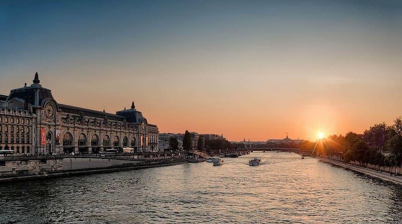 sunset seiner river vicat